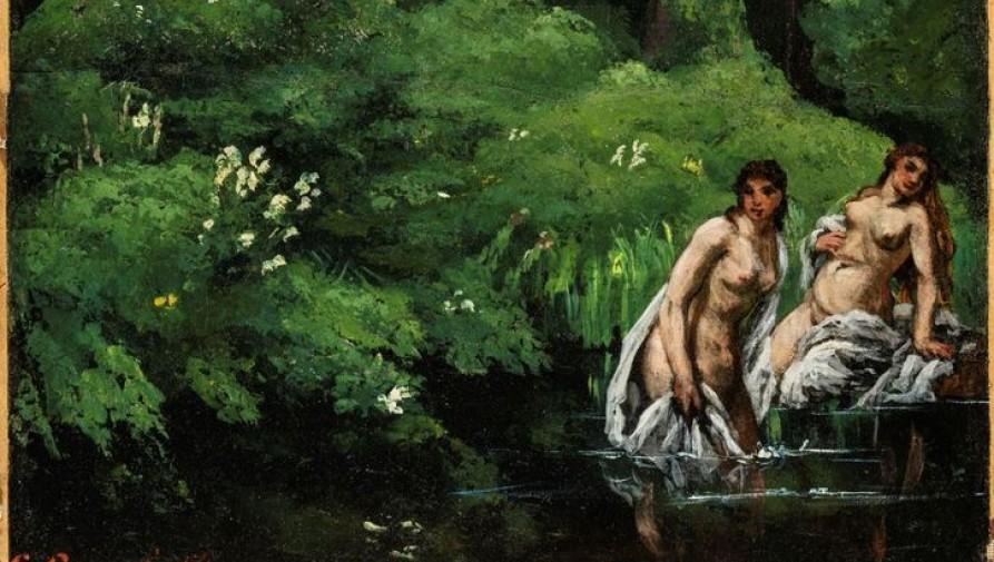 Újra Magyarországra került Gustave Courbet Fürdőzők az erdőben című festménye
